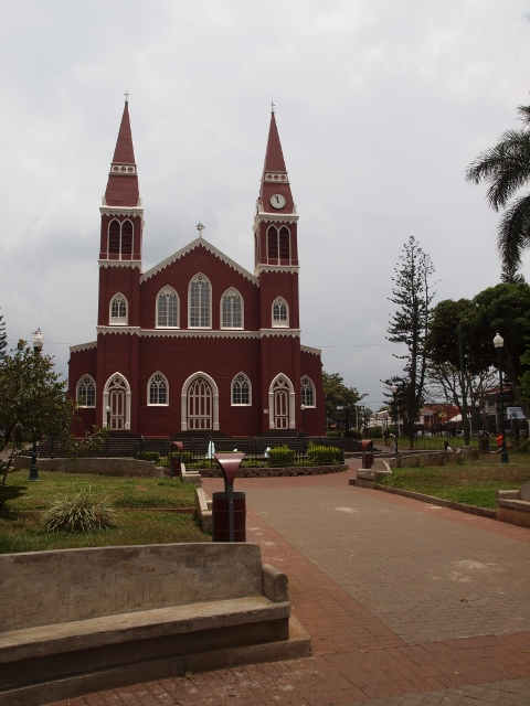 The red church of Grecia – constructed of steel plates, about an hour northwest of San Jose. The square in front is alive with activity from morning to sundown. Seniors chatting, young couples sitting together, children playing. It's a great place for authentic Costa Rican culture.