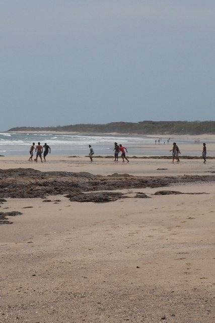Just south of Tamarindo is Playa Avellanas. It's a well-known surf spot and hang out for beach soccer players too. Check out Lola's restaurant for cold beer and excellent ceviche.