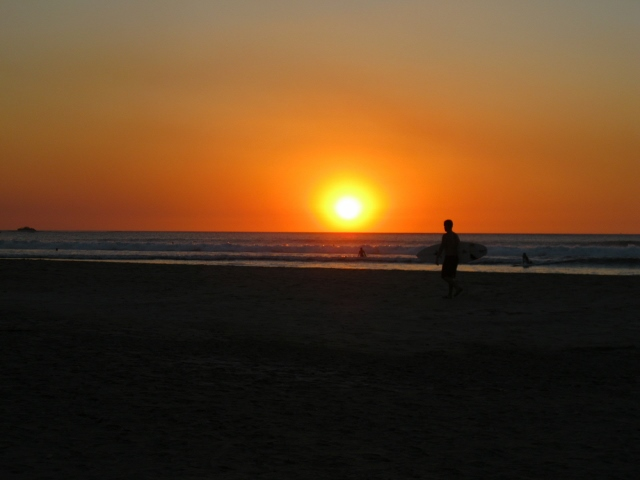 The end of another day – and surf session - in Tamarindo.