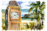 Big Ben $ Tropical Island