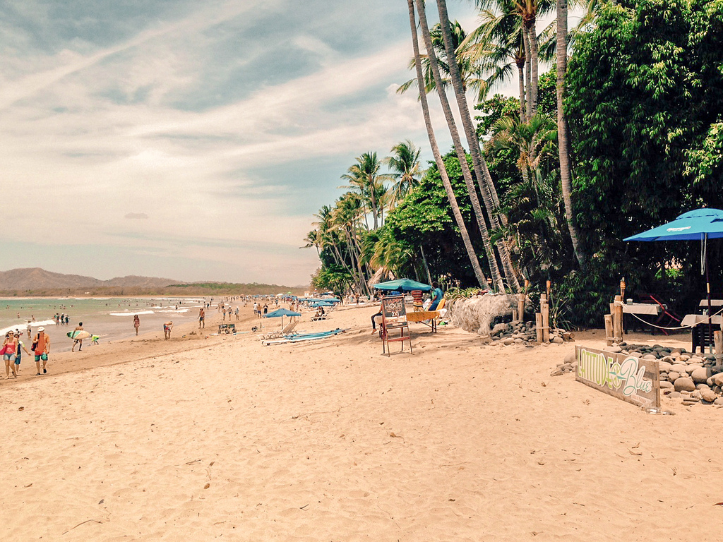costa rica, beach bar