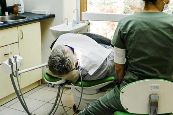 dental patient lying down