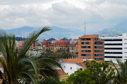 There are many places around the world with built-in expat communities like Cuenca, Ecuador.