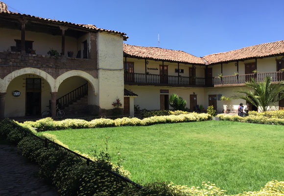 The interior courtyard of a typical colonial home. This one now hosts offices and shops.