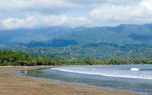The southern Pacific coast, known as the Southern Zone, is what most people picture when they think of Costa Rica. It's steamy rain forest. Jungle-clad mountains drop dramatically to deserted beaches. There are no large resorts. No high-rises blocking the ocean view.
