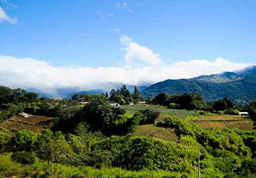 The typical hillside view from a house in Boquete.