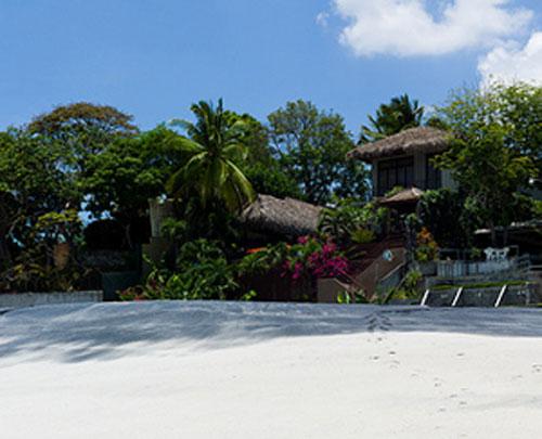 A beautiful beachfront property on Coronado beach.