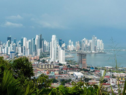 The view of Panama City from Cerro Ancon.