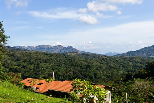 Santa Fe is located in the highlands of the province of Veraguas, and is surrounded by green hills.