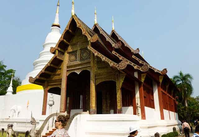 Buddihst temple in Chianf Mai, Thailand