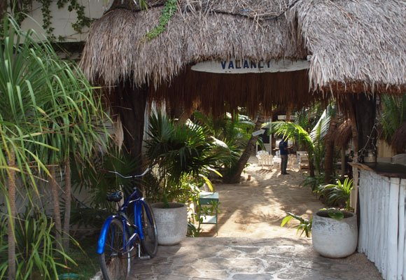 The hotels, restaurants, and shops take a cue from the local indigenous building style with palm-frond roofs and open-air design.