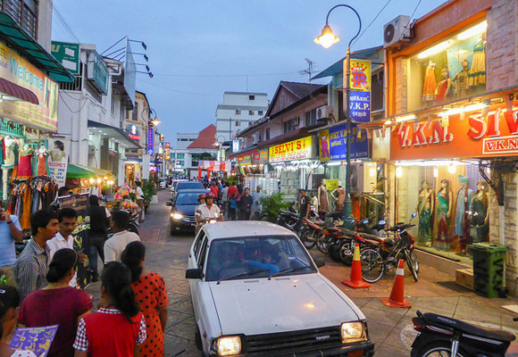Located in the heart of George Town is a small slice of Indian life spread across three streets known as Little India. A great spot for shopping and dining, here you'll find authentic Indian food, clothing, and culture.