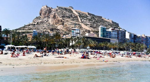 El Postiguet Beach, Alicante, Spain