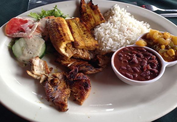 The national dish is the casado, which means married in Spanish. It is said to refer to the marriage of ingredients on the plate: rice; black beans; salad; plantains; and your choice of beef, chicken, or fish. $4 - $6.