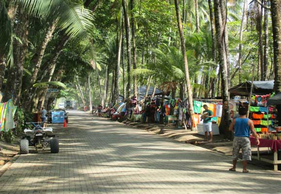 "Dominical is a funky beach town where ""main street"" is right on the beach."