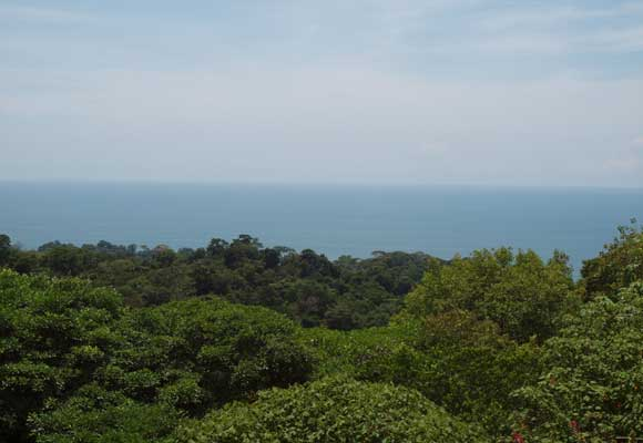 A panoramic ocean view from a typical hillside expat home.