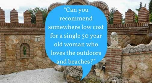 """""""Can you recommend somewhere low cost for a single 50 year old woman who loves the outdoors and beaches?"""""""