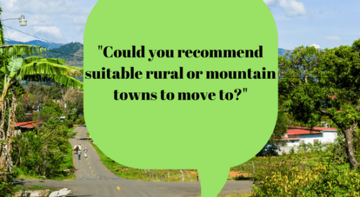 Could You Recommend Suitable Rural Or Mountain Towns To Move To