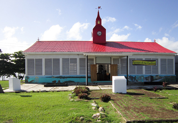 Corozal's House of Culture stands proud against the backdrop of the Bay. It is the focal point of cultural activities for the region.