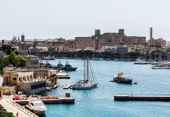 Regular ferry boats travel in and out of Valletta's Grand Harbour, allowing visitors to explore the different islands.
