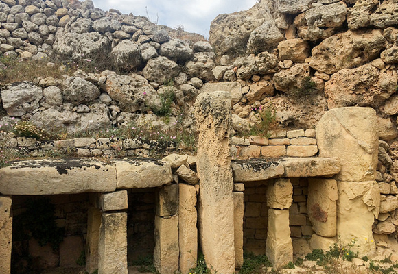 The Ggantija stone temple on Gozo is another aspect of Malta's long history.