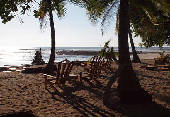 Santa Teresa on the Nicoya Peninsula has plenty of places to relax on the beach, just like this one.