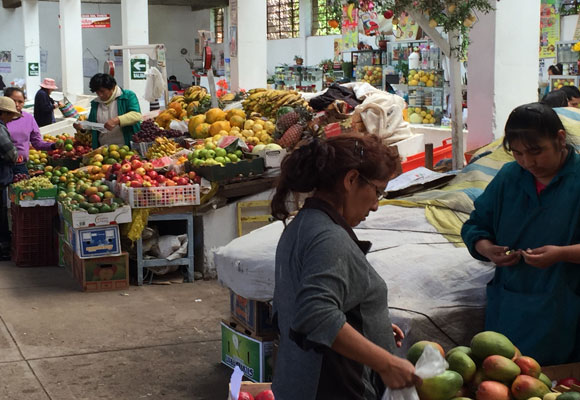 One of the neighborhood markets where you can get cheap, but fresh high-quality produce.