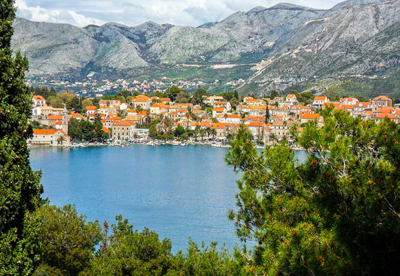 Cavtat, a simple boat ride away from   Dubrovnik, is a popular tourist destination with restaurants and shops filling the seafront. It is no wonder tourists flock here, the scenery is picturesque.