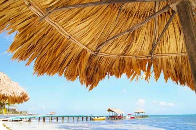 beach bar in ambergris caye